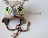 Owl Hats (Available in all sizes) Multiple styles