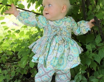 Baby Nicolette's Double Ruffle Pants & Capris PDF Pattern Sizes Newborn to 18/24m