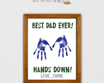 DIY Printable Handprint Gift - Father's Day Gift - Family Tree - Father's Day Gift - Grandparent's Day Gift -  Fathers Day 2017, Fathers Day