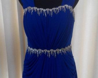 Royal Blue Tulle wedding dress