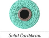 Solid Caribbean Aqua Twine - 20/50/240 yds - by The Twinery