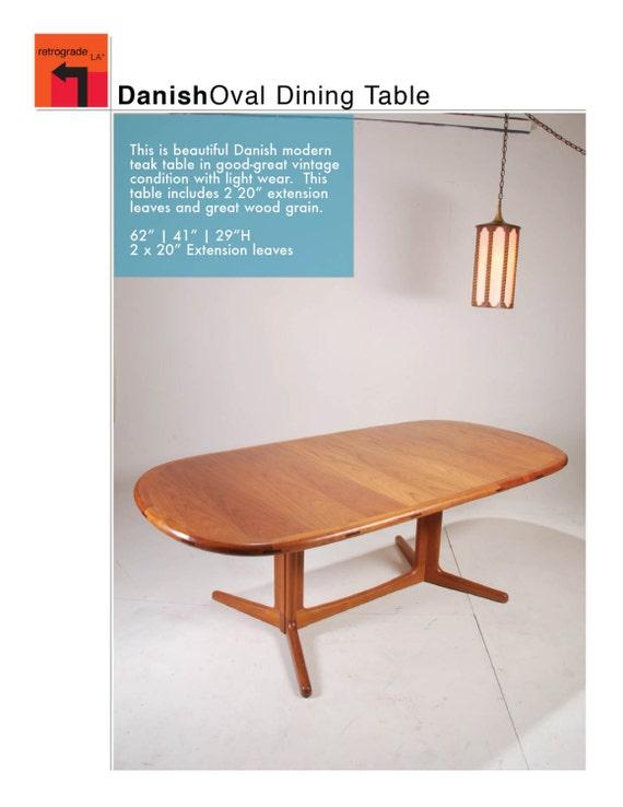 Modern Teak Oval Dining Table