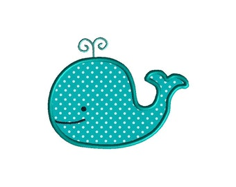 Whale Applique Machine Embroidery Design-INSTANT DOWNLOAD