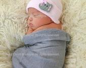 Newborn girl hat Newborn hospital hat Newborn baby hat Newborn hat girl Nursery elephant hat