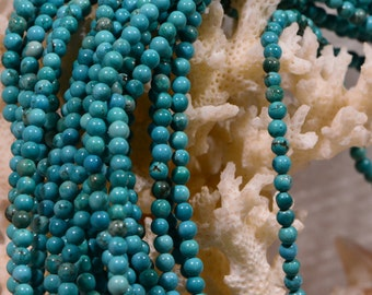 Turquoise Beads 3 mm Natural Gemstone Beads Jewelry Making Supplies