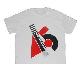 Generation X- Classic Punk Screenprint - White Tshirt - Billy Idol- Small - Medium