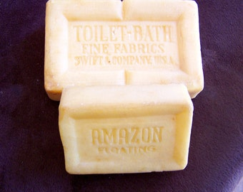 Vintage 1900's Very RARE Two Bars of Wool Soap, Toilet and Bath by SWIFT & COMPANY