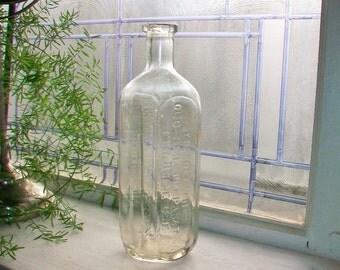 Antique Quack Medicine Bottle Dr Peter Fahrney & Sons Reliable Old Time Preparation