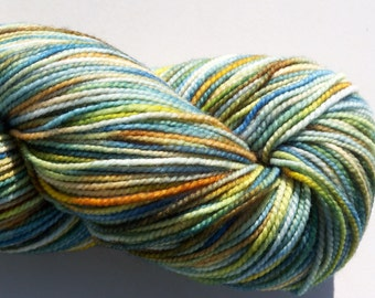 Superwash Merino, Nylon Sock Yarn, 400 yds, fingering weight 2ply, hand dyed