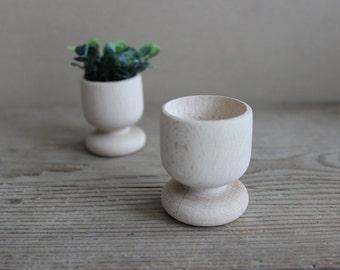 Small wood planters / set o f 2 / modern planters / natural decor / cactus planter