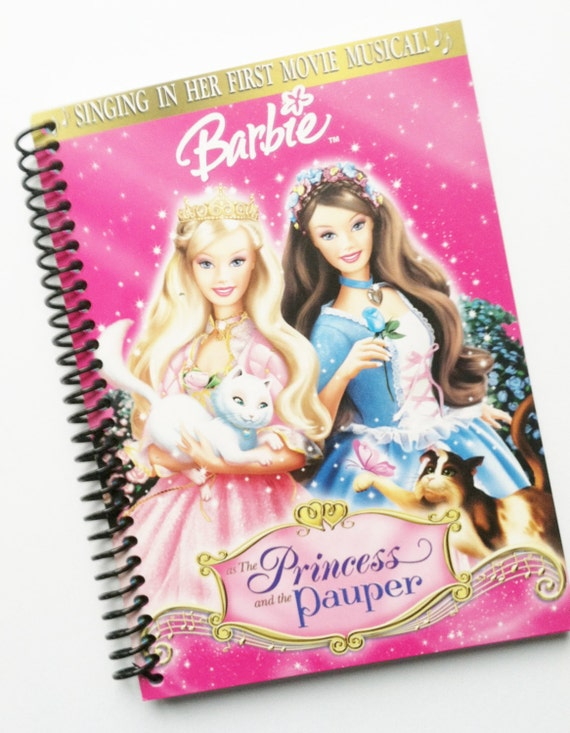 BARBIE Journal Diary Notebook recycled Spiral Bound