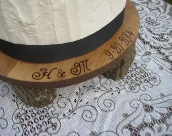 Rustic Cake Stand, Rustic Wedding, Rustic Cupcake Stand, Wood Cake Stand, Log Slice Cake Stand, Round Cake Stand, Personalized Cake Stand