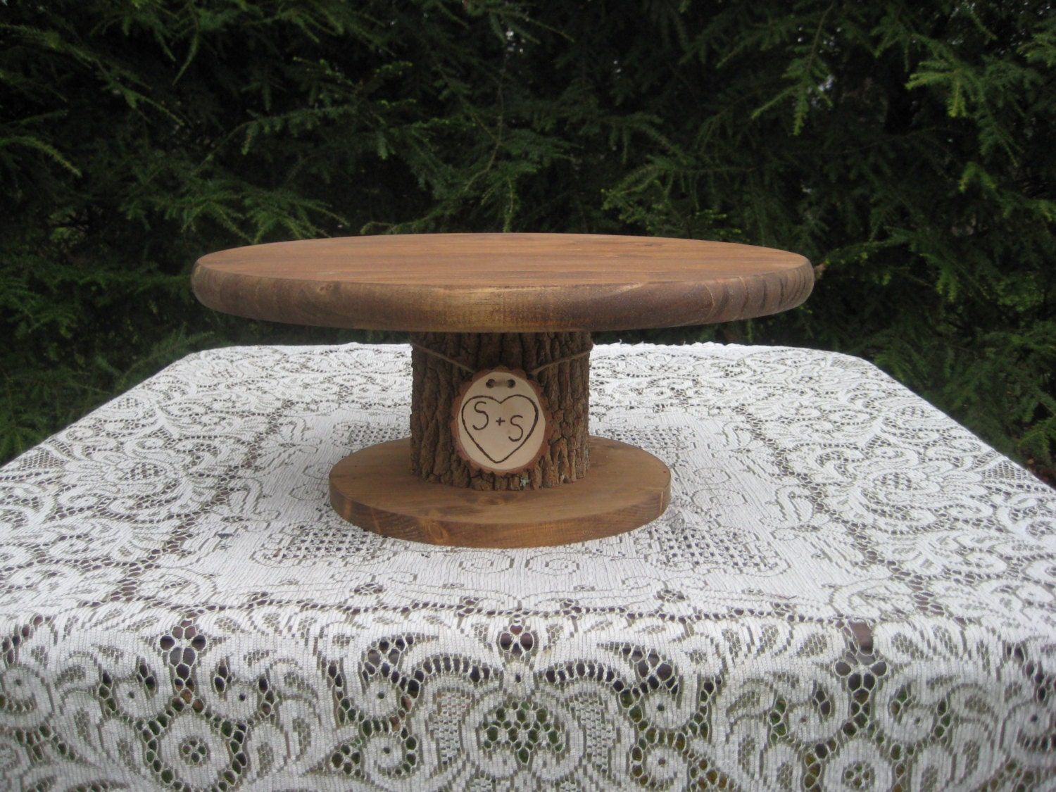 Rustic Wedding Wood Cake Stand: Rustic Cake Stand Wedding Cake Stand Rustic Wedding