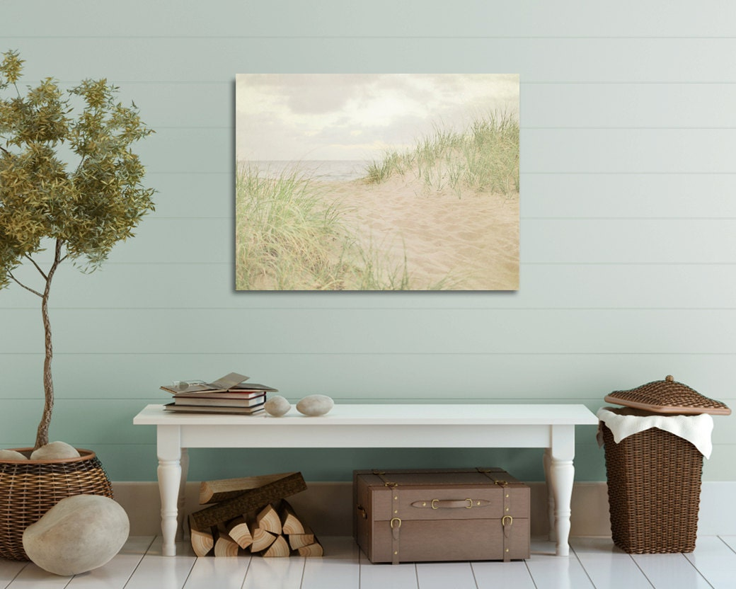 Coastal Wall Decor: Bathroom Wall Art Coastal Home Decor Beach Canvas Seaside