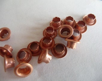 Copper Rivets, raw copper, metal jewelry findings, supplies, copper jewelry, grommets, eyelets