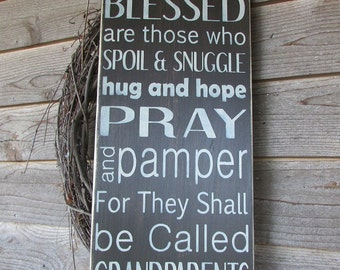 grandparents sign, Grandparents gift, family rules, primitive sign, wood sign, hand painted sign, primitive country grandparents rules, gif