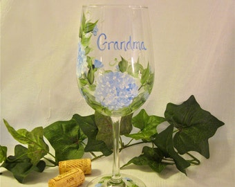 Grandma personal wine glass