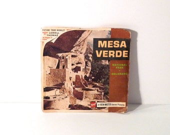 Mesa Verde Viewmaster Reel 60s GAF National Park Lowell Thomas Colorado A325 View Master Vintage 1960s