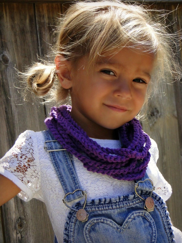 Kids Scarf Girls Crochet Infinity Scarf Toddler By