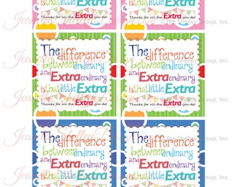 instant download / DIY Printable Gum Thank You Gift Tags