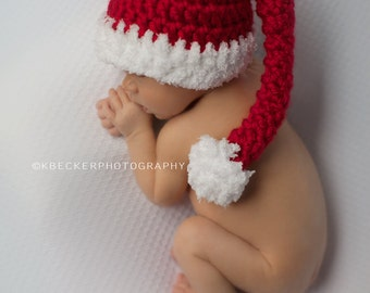 Christmas hat, baby hat, newborn Christmas hat, Santa hat, baby Santa hat, crochet santa hat, Santa Claus Hat