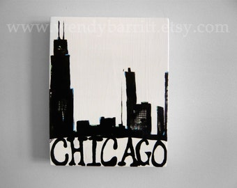 Chicago Painting-on wood