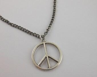 Peace Necklace-Peace Symbol Necklace-Peace Charm-Peace Sign-Peace Jewelry- Peace Symbol jewelry-Peace Necklace-Peace Sign Symbol