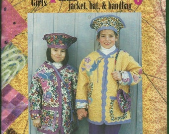 Hapikids MW04 Reversible Quilted Jackets for Girls with Matching Purse & Hats too Sizes 4 to 12 UNCUT
