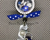 REEL-LOCKET™ - Locket,Retractable badge reel,Badge Clip,Floating charm memory locket,floating Locket,Floating Charm,RN,Nurse,Nurse Gift,Id