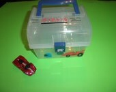 Hotweel Matchbox Train  On the Go Carryall Portable Boys Personalized Gift Tote Collectibles Vehicle Storage
