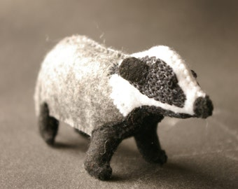 Mini Felt Badger Made to Order