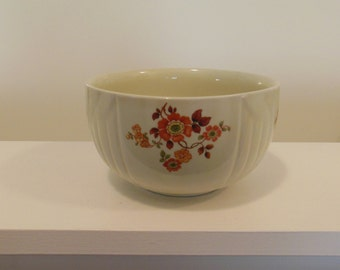 Halls Autumn Flowers Radiance Small Mixing Bowl Second Selection Kitchenware  Made In USA