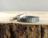Wedding Band Set, Recycled Sterling Silver, Simple Diamond Ring, Wedding Band, Eco Friendly, Handmade Wedding Ring,Sterling Silver Ring