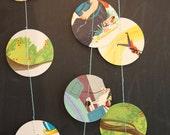 vintage children's books dots garland