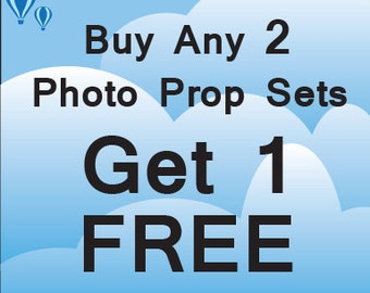 "Use Code ""3RDFREE"" at checkout - Buy 2 Photo Booth Prop Sets and Get 3rd Free"