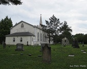 Church Graveyard, Photograph, NOTL, Travel Photography, Architectural, Architecture, Tombstone Art, Graveyard Art, Landscape, Historic