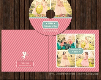 Valentine's CD/DVD Label and Single Cover Templates - D19