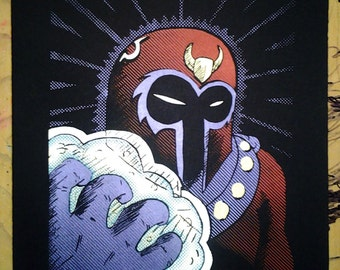 X-Men Magneto hand-pulled silkscreen print