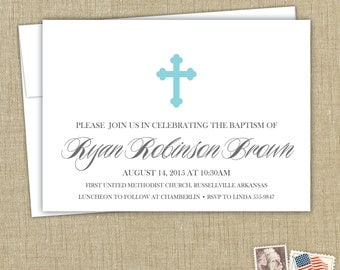 Confirmation invitation. First Communion invitation, Baptism invitation. Christening announcement.
