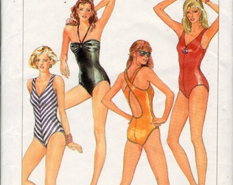 vintage Simplicity 6887 sewing pattern // Misses' Swimsuits