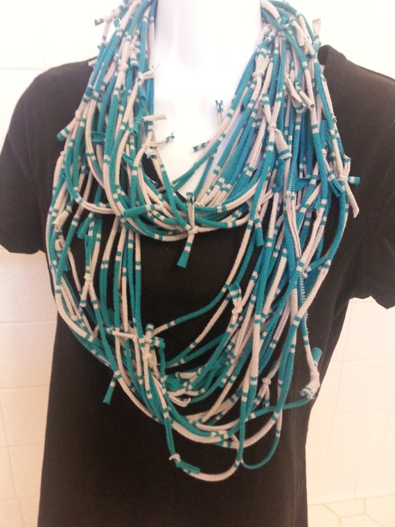 Recycled T Shirt Scarf Shabby Ragged Knotted by ...