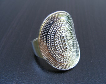 15% Off Sale.S138 Made to Order...New  Sterling Silver Large Diameter Amulet Ring