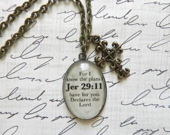 Jeremiah 29:11 Bible Verse Necklace
