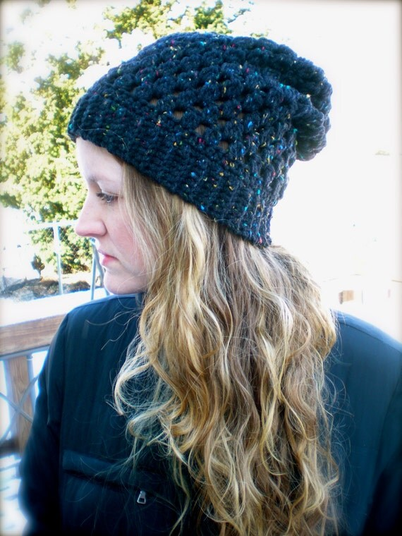 PATTERN- The Puff Slouch, PDF easy crochet pattern, black slouch, InStAnT DoWnLoAd, women, teen, unisex, slouchy, Permission to Sell