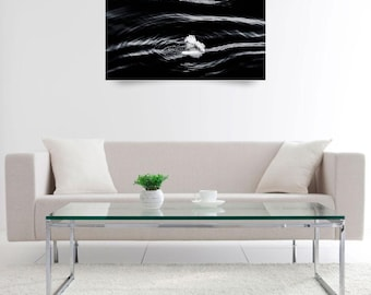 Water Art Photograph - Black and White Wall Art - Monochrome Photography for Home Decor Fine Art Photography