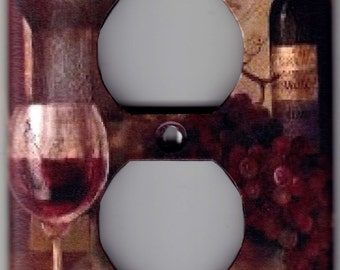Wine Tasting / Grapes Switchplate Cover - Single Outlet size (7122)