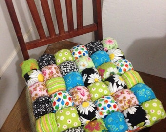 dining chair cushions custom made in your favorite colors bubble quilt style biscuit quilt chair