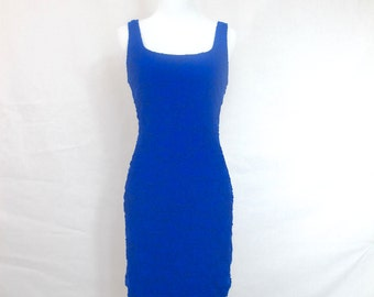 90s Blue Textured Bodycon dress