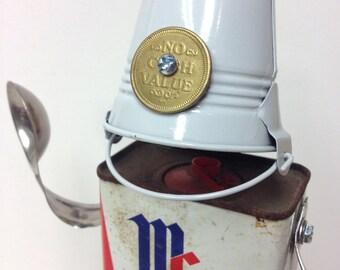 """Found Object Robot """"Pepper"""" Sculpture/Assemblage Art"""