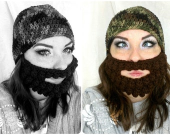 ALL SIZES/COLORS Beanie/Beard Combo